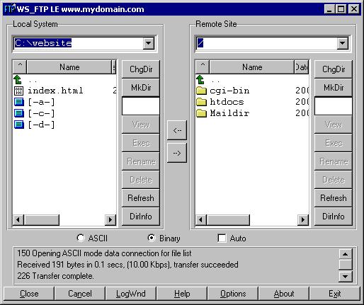 file opening mode